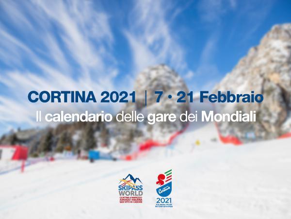 Mondali di sci 2020 21 a Cortina d'Ampezzo